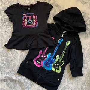 Coogi Toddler Girls Black Hoodie /& Turtleneck 3Pc Pant Set